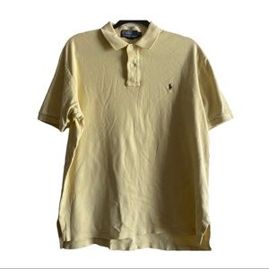 Polo By Ralph Lauren Yellow Polo Shirt Size Medium
